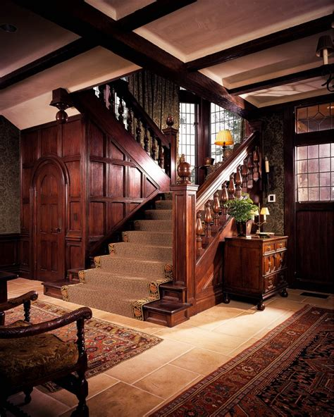 Craftsman Home Interiors Sagee Manor Foyer And Staircase Hooked On Houses
