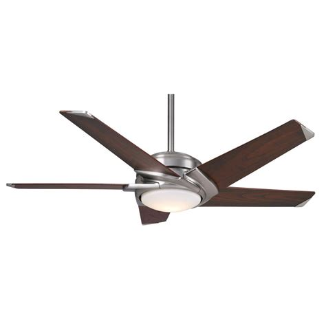 54 casablanca stealth ceiling fan casablanca fan company stealth 54 quot brushed nickel with
