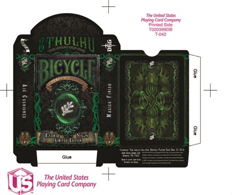 united states card company bicycle cards box template new cthulhu bicycle 174 card decks by dann kriss