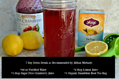 What To Eat On A Tea Detox by 7 Day Detox Drink Recipe As Recommended By Jillian