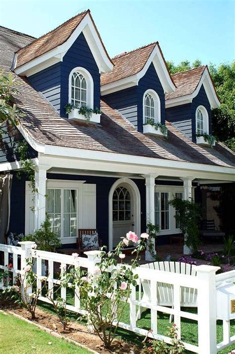 blue and white house white cottage exterior www pixshark com images