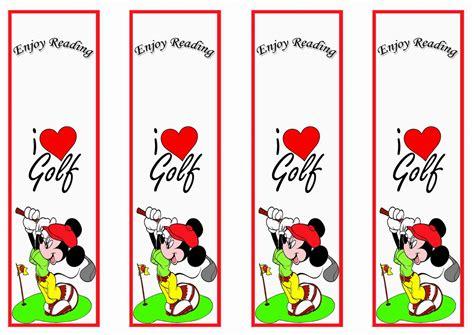 printable birthday bookmarks golf bookmarks birthday printable