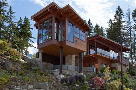 Small Chalet Home Plans Sweeping Mountain Amp Lake Views Modern Chalet Architecture