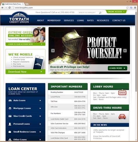 Forum Credit Union Site Towpath Credit Union Website
