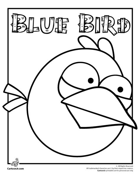 Blue Angry Bird Coloring Page angry birds coloring pages best gift ideas