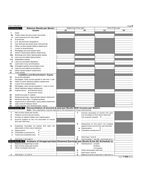 business tax return form 1120 form 1120 corporate income tax return 2014 free download