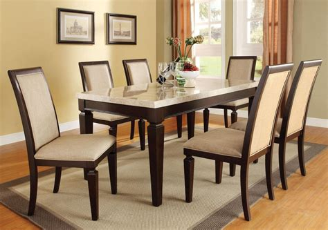 7 Pc Dining Room Set by Marble Top Dining Table Ebay 7 Piece Room Set Wood Chair