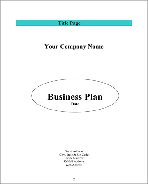 sba business plan template sba business plan template for free page 2