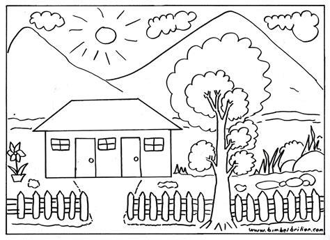 gambar rumah hitam putih  diwarnai hd gambar pixabay