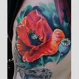 Opium Poppy Flower Tattoo | 600 x 748 jpeg 46kB