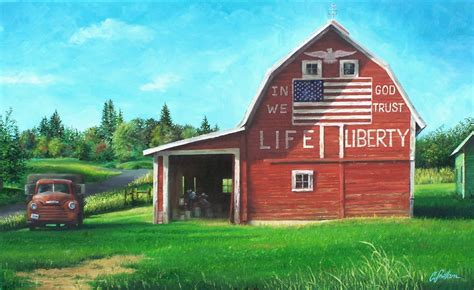 landscape painting an irresistible all american barn