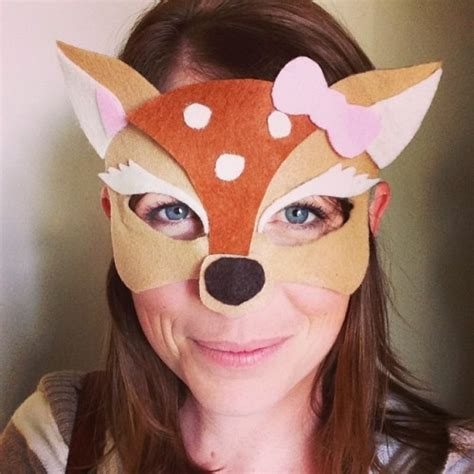 printable mask of deer diy no sew felt halloween masks bonbon break