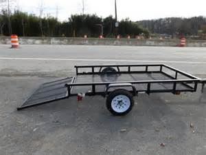 Enclosed Landscape Trailers by Carry On 5 X 8 Landscape All Mesh Utility Trailer New