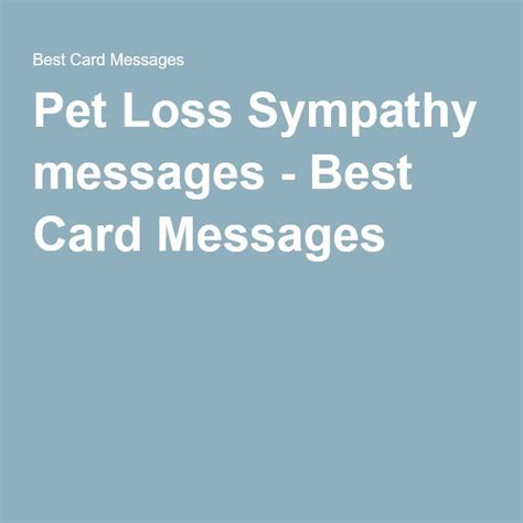 sympathy messages pet loss and messages on