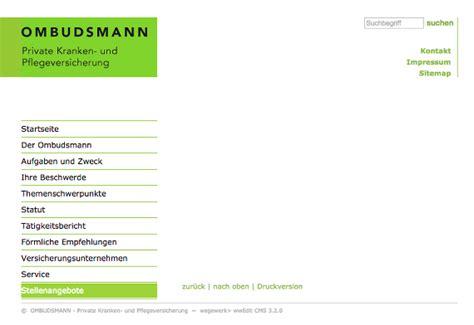 Musterbrief Beschwerde An Ombudsmann Wenn Der Pkv Ombudsmann F 252 Nf Monate Lang Nicht Klingelt Vertrieb Versicherungsbote De
