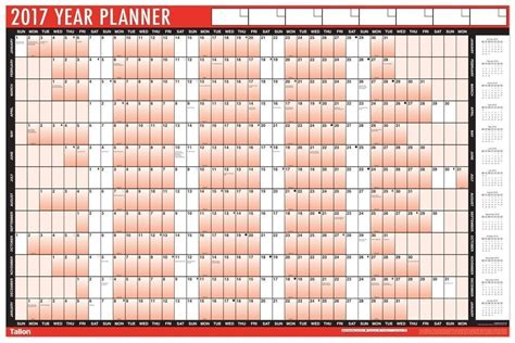 Kalender 2017 A1 2017 A1 Laminated Yearly Wall Planner Calendar With Wipe