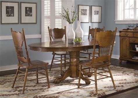 nostalgia oval sunburst pedestal table  piece dining set