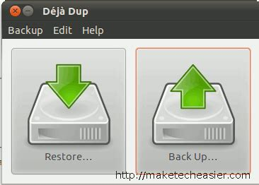 how to backup and restore companyweb in small business server 2008 deja dup makes backup a simple task linux make tech easier
