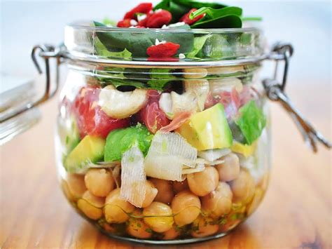 green recipes superfood salad jar summer lunch