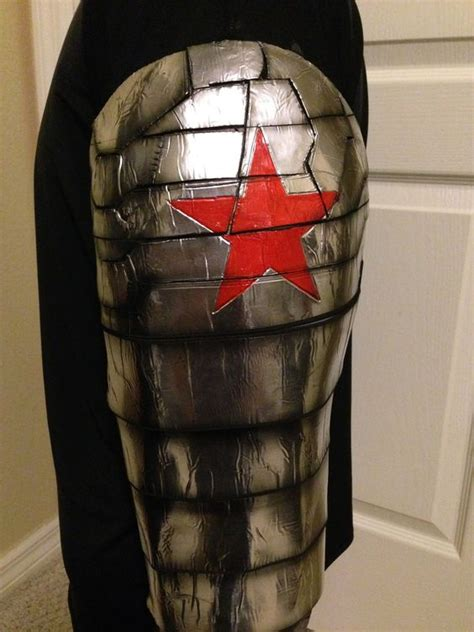 winter soldier arm tattoo winter soldier costume arm detail shurtape aluminum