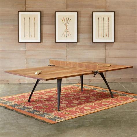 how is a ping pong table this beautiful wood ping pong table does duty as a