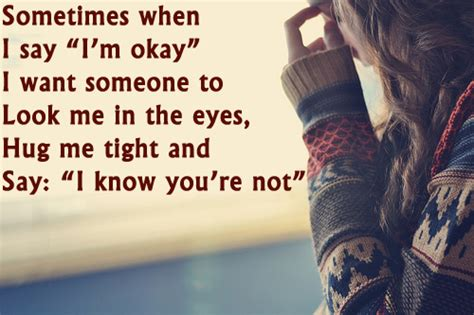 I Am Not A Special sometimes when i say i m okay i want someone special to