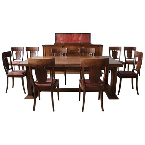 art deco dining room sets rare french art deco walnut dining room set by jean charles moreux for sale at 1stdibs