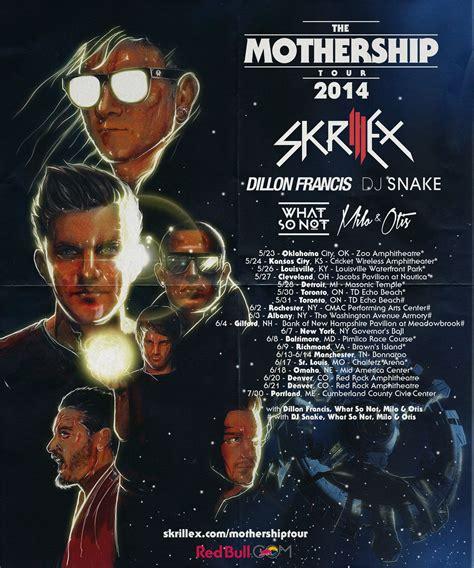 skrillex upcoming shows skrillex uploads mothership tour 2014 teaser video and