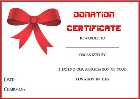 22 Legitimate Donation Certificate Templates For Your Next Caign Demplates Donation Certificate Template