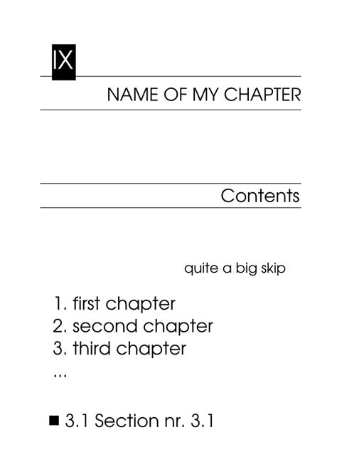book layout chapter sectioning book layout contents chapter section tex