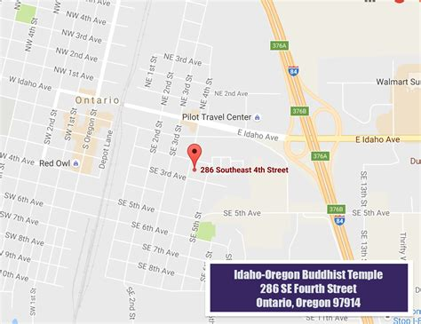 map of oregon ontario idaho oregon buddhist temple serving ontario oregon and