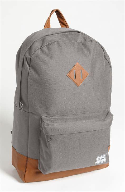 Original Herschel Heritage Backpack Lt Grey Lg herschel supply co heritage backpack in gray for grey lyst