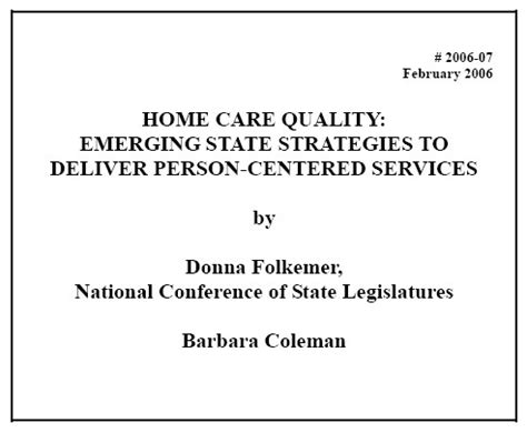 health care quality may 2006