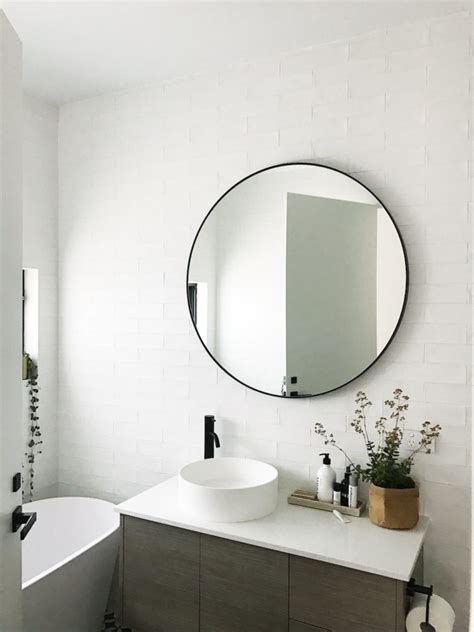 round mirrors for bathroom gina s home black and white bathroom reveal style curator