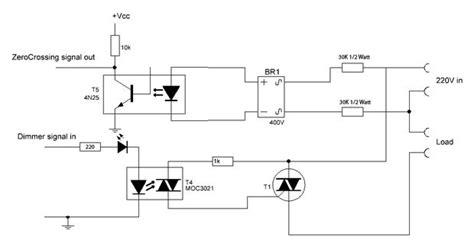 transistor void arduino optotriac based ac dimmer blinking severely electrical engineering stack exchange