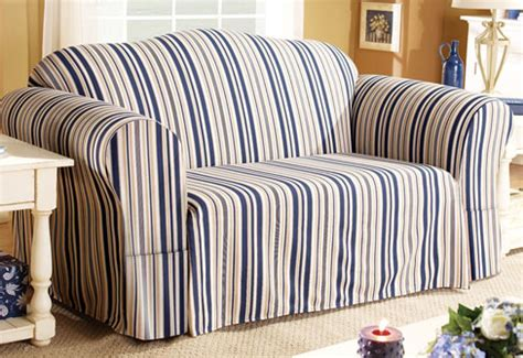 nautical sofa covers sure fit slipcovers it s a stripe thing