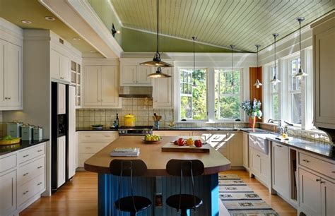 summer lake house farmhouse kitchen burlington by