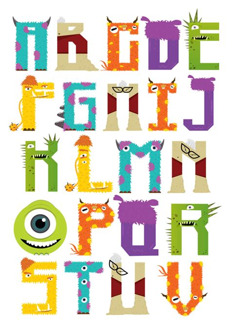 art karakter terbaru monster university dari disney pixar a fun and colorful font inspired by pixar s monsters