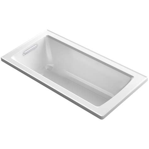 what is a reversible drain bathtub shop kohler archer white acrylic rectangular drop in