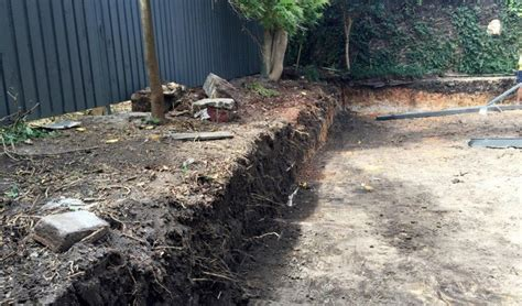 Backyard Excavation by Hunters Hill Nsw Backyard Excavation Brian S Tight