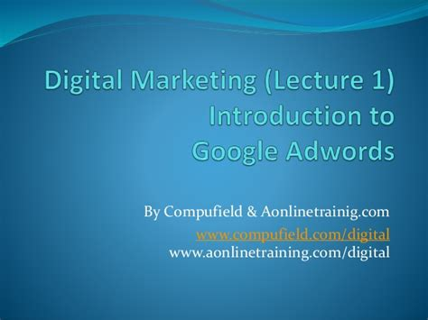 Digital Marketing Degree Course 1 by Courses Digital Marketing Demo Class Lecture 1
