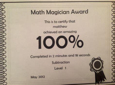 Mat Magician by Matthew Cherfane Math Magician Award