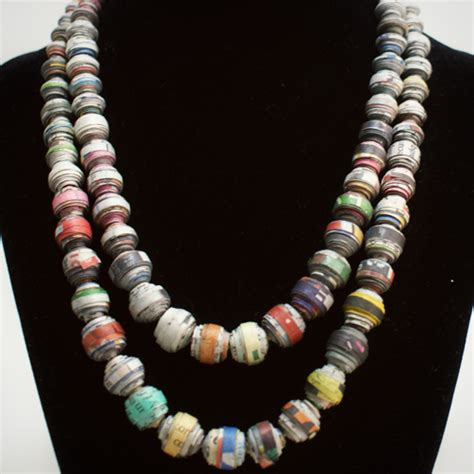 Paper Bead Jewelry Ideas - work with wood project guide woodworking project templates