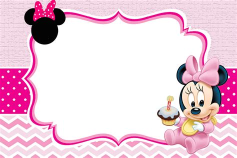 minnie mouse card templates baby minnie mouse invitation template free printable
