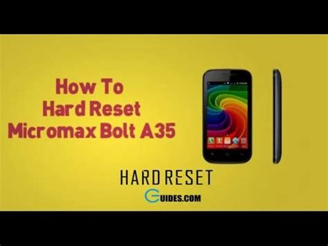pattern lock micromax a35 hard reset micromax a35 and remove pattern lock youtube