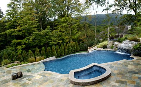 Backyard Pool And Spa Outdoor Waterfalls August 2012