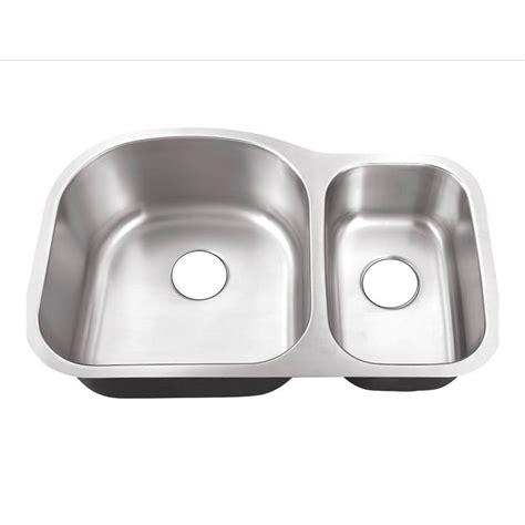 70 30 kitchen sink belle foret undermount stainless steel 32 in 0 hole 70 30