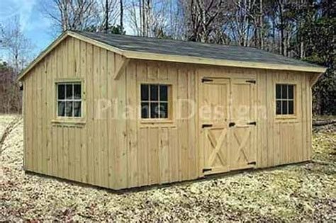 saltbox roof style storage shed plans  ebay