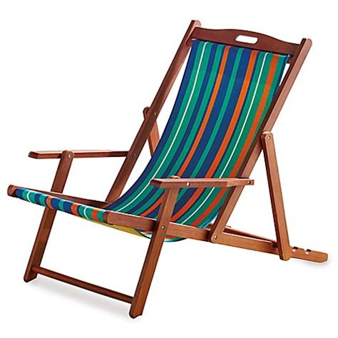 buy eucalyptus resort chair from buy resort striped folding wood chair from bed bath
