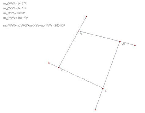 Quadrilateral Sum Of Interior Angles by Jvlr Panda Interior Exterior Angle Sum Of A Quadrilateral